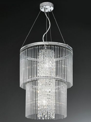 Franklite FL2310/4 Chrome Pendant Light